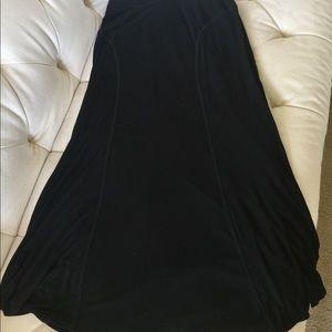 White House Black Market Long Black Skirt M